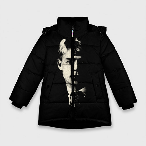 Зимняя куртка для девочки Есенин Ч/Б / 3D-Черный – фото 1