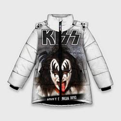 Куртка зимняя для девочки KISS: Adult demon wig цвета 3D-черный — фото 1