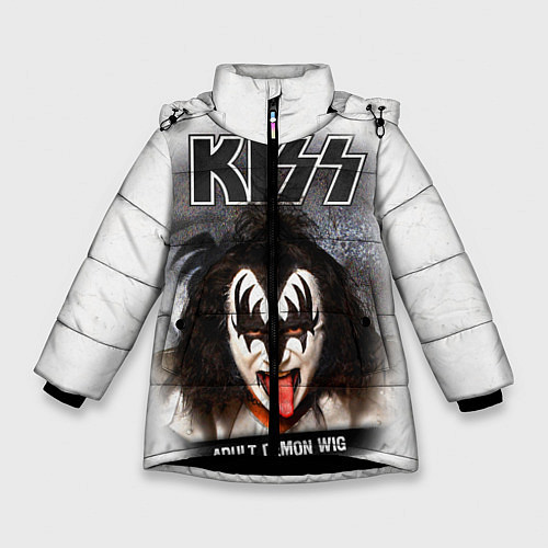 Зимняя куртка для девочки KISS: Adult demon wig / 3D-Черный – фото 1