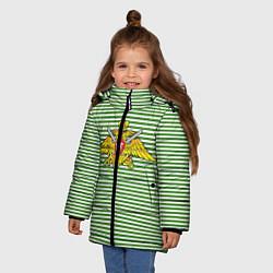 Куртка зимняя для девочки Тельняшка ПВ РФ цвета 3D-черный — фото 2