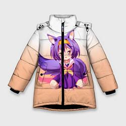 Куртка зимняя для девочки No Game No Life цвета 3D-черный — фото 1