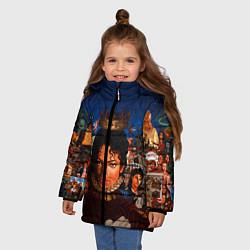Куртка зимняя для девочки Michael Jackson: Pop King цвета 3D-черный — фото 2