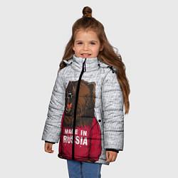 Куртка зимняя для девочки Made in Russia цвета 3D-черный — фото 2