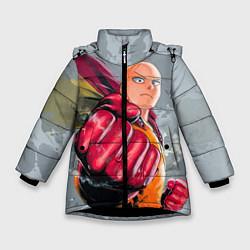 Куртка зимняя для девочки One Punch Man Fist цвета 3D-черный — фото 1
