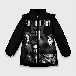Куртка зимняя для девочки Fall out boy band цвета 3D-черный — фото 1