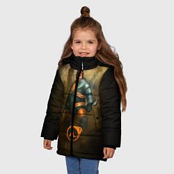 Куртка зимняя для девочки HL3: Gabe Newell цвета 3D-черный — фото 2
