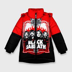 Куртка зимняя для девочки Black Sabbath: Red Sun цвета 3D-черный — фото 1