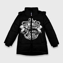 Куртка зимняя для девочки The Truth Is Stranger цвета 3D-черный — фото 1