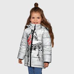 Куртка зимняя для девочки Muay thai Words цвета 3D-черный — фото 2