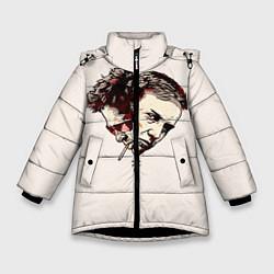 Куртка зимняя для девочки Fight Club: Friends цвета 3D-черный — фото 1