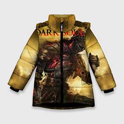 Куртка зимняя для девочки Dark Souls: Braveheart цвета 3D-черный — фото 1