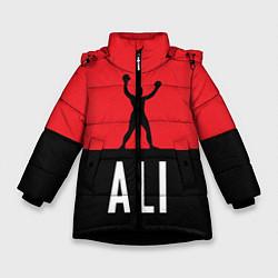 Куртка зимняя для девочки Ali Boxing цвета 3D-черный — фото 1