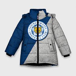 Куртка зимняя для девочки Leicester City FC цвета 3D-черный — фото 1