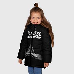Куртка зимняя для девочки Placebo: Unplugged цвета 3D-черный — фото 2