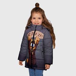 Куртка зимняя для девочки Five Nights: I Did It цвета 3D-черный — фото 2