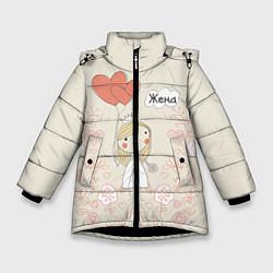 Куртка зимняя для девочки Жена с шариками цвета 3D-черный — фото 1
