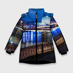 Куртка зимняя для девочки Москва цвета 3D-черный — фото 1