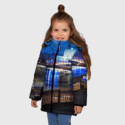 Детская зимняя куртка для девочки с принтом Москва, цвет: 3D-черный, артикул: 10095926006065 — фото 2