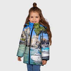 Куртка зимняя для девочки Италия цвета 3D-черный — фото 2