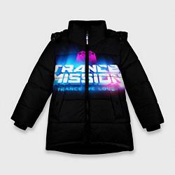 Куртка зимняя для девочки Trancemission: Trance we love цвета 3D-черный — фото 1
