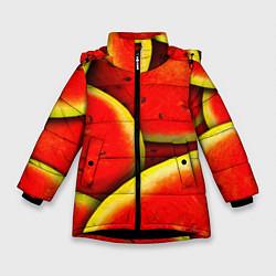 Куртка зимняя для девочки Арбуз цвета 3D-черный — фото 1