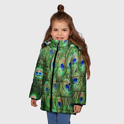 Куртка зимняя для девочки Life is beautiful цвета 3D-черный — фото 2