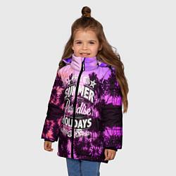 Куртка зимняя для девочки Hawaii dream 2 цвета 3D-черный — фото 2