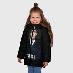 Куртка зимняя для девочки Peaky Tommy цвета 3D-черный — фото 2