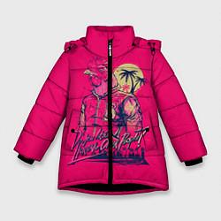 Куртка зимняя для девочки Hooking Over People? цвета 3D-черный — фото 1