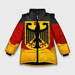 Куртка зимняя для девочки Германия: герб цвета 3D-черный — фото 1