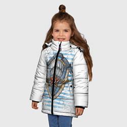 Куртка зимняя для девочки ВДВ цвета 3D-черный — фото 2
