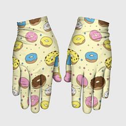 Перчатки Сладкие пончики цвета 3D — фото 1