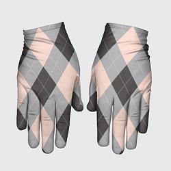 Перчатки Шотландка цвета 3D-принт — фото 1