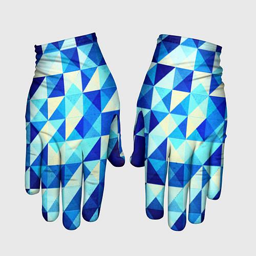 Перчатки Синяя геометрия / 3D – фото 1