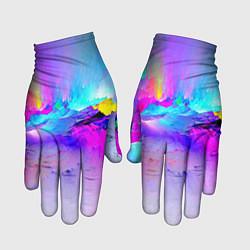 Перчатки Абстракция цвета 3D — фото 1