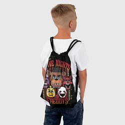 Рюкзак-мешок Five Nights At Freddy's цвета 3D-принт — фото 2