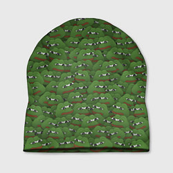 Шапка Грустные лягушки цвета 3D — фото 1