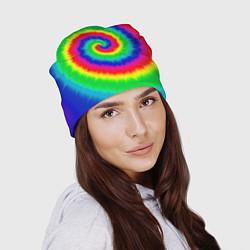 Шапка Tie dye цвета 3D — фото 2
