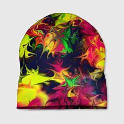 Шапка Кислотный взрыв цвета 3D — фото 1