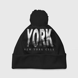 Шапка с помпоном New York City цвета 3D-черный — фото 1