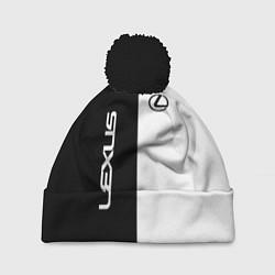 Шапка с помпоном Lexus: Black & White цвета 3D-черный — фото 1