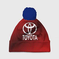 Шапка с помпоном Toyota: Red Carbon цвета 3D-тёмно-синий — фото 1
