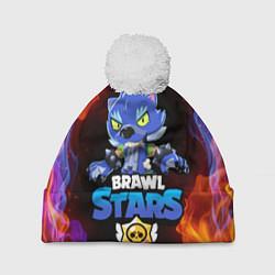 Шапка с помпоном BRAWL STARS LEON - фото 1