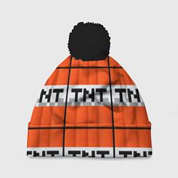 Шапка с помпоном Minecraft-Динамит цвета 3D-черный — фото 1