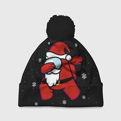 Шапка с помпоном Santa Claus Among Us цвета 3D-черный — фото 1