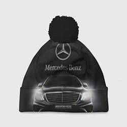 Шапка с помпоном Mercedes цвета 3D-черный — фото 1