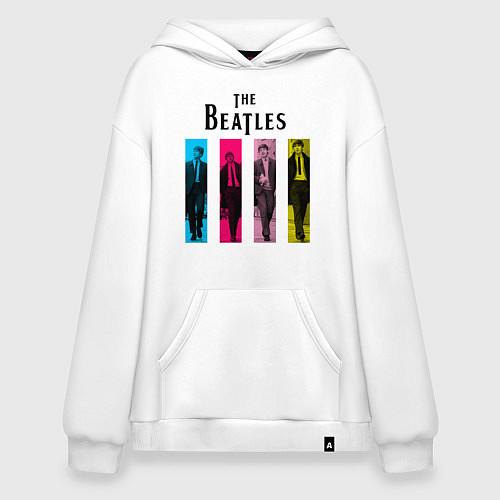Худи оверсайз Walking Beatles / Белый – фото 1