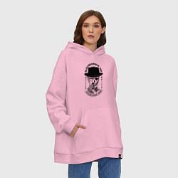 Толстовка-худи оверсайз Хайзенберг цвета светло-розовый — фото 2