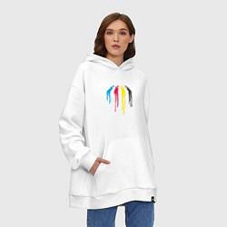 Толстовка-худи оверсайз Abbey Road Colors цвета белый — фото 2