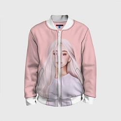 Бомбер детский Ariana Grande Ариана Гранде цвета 3D-белый — фото 1